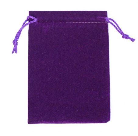 Darilna vrečka iz žameta - vijola 1