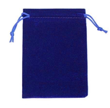 Darilna vrečka iz žameta - modra 1