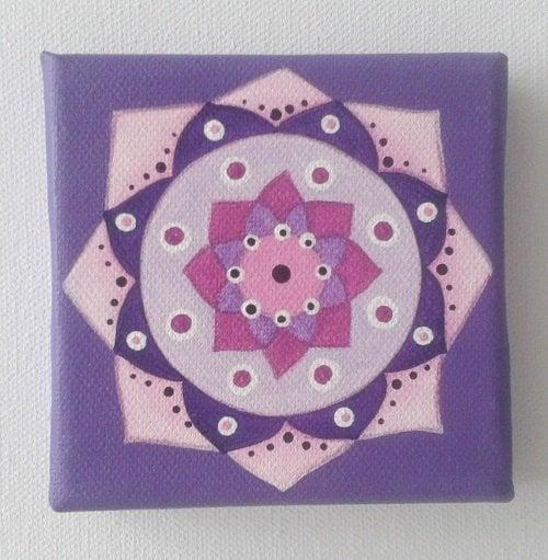 mandala vijolična 10x10 cm 2611 1