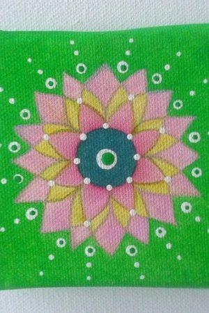 mandala zelena 10x10cm 2609 1