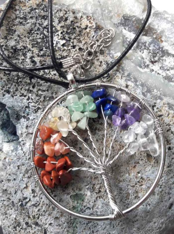 obesek drevo življenja and 7 kristalov za 7 čaker 3153 1