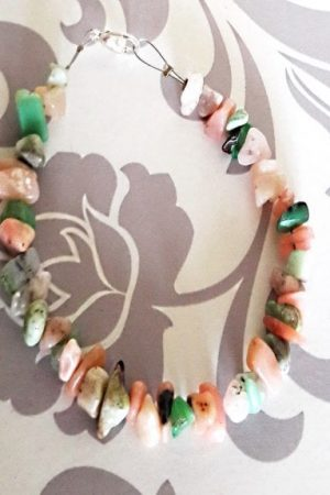 zapestnica roza in zeleni opal 3021 1
