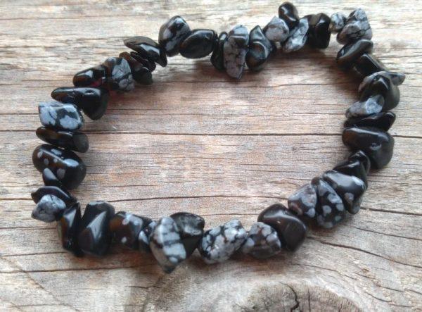zapestnica snezinkasti obsidian