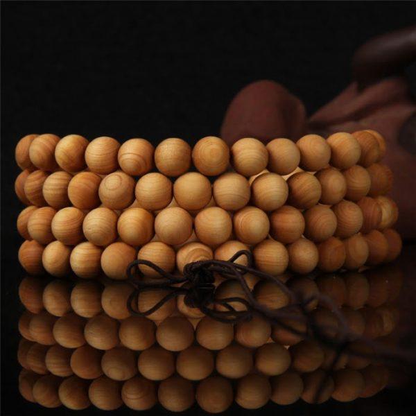 Budistična verižica za mantranje – 108 lesenih kroglic (Mala) 1