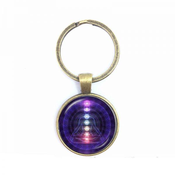 Obesek za ključe 7 čaker - vijola 1